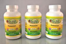Potassium, blood pressure, heart, bone health- 300 tablets (3x100). Made in USA.