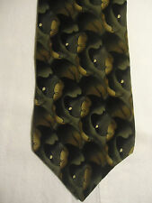 "Jimmy V Silk Tie Peggy Fleming Design Gray Tan Black 58"" Collection 2 Two"