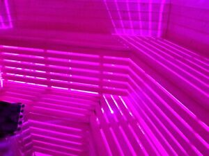 LEDs, Saunabeleuchtung, Unterbank, Saunabeleuchtung, Sauna,Farblicht 5* Meter.
