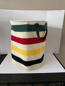 Pendleton Home Collection Glacier Stripe hamper basket bin knit handles cabin