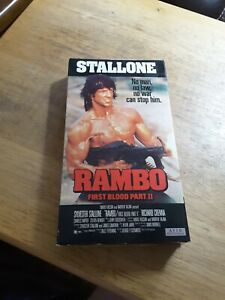 Stallone Rambo First Blood Part 2 VHS 1985 Movie Rare AVID Home Entertainment