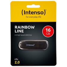 kQ Intenso Rainbow Line Stick 16 GB USB 2.0 Speicherstick 16GB schwarz
