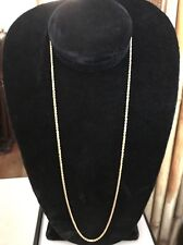 "FINE 14K SOLID GOLD DIAMOND CUT ROPE CHAIN NECKLACE 24"" NICE & HEAVY 8.6 g, 2mm"
