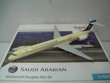 "Herpa Wings 500 Saudi Arabian Airlines MD-90 ""1996s color"" 1:500 NG"