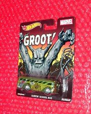 Hot Wheels MARVEL GROOT! Surfin' School Bus  Real Riders CFP58-0814