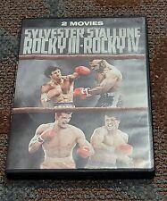 Rocky 3 & 4 (DVD, 2 Disc Set) FS/WS Sylvester Stallone/Mr. T/Dolph Lundgren VG
