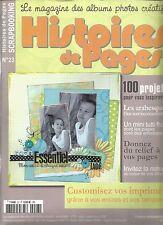 HISTOIRES DE PAGES N°23 CUSTOMISEZ VOS IMPRIMES / LES ARABESQUES / LE RELIEF