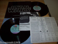 "1977 Star Wars  TWO NEAR MINT 12"" vinyl INCLUDES INSERT +Force Order Form 2T-541"