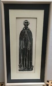 Gravestone grave rubbing.  English Origin. Nicely Framed By Professional.