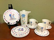 Vintage Holly Hobbie Chilton/American Greetings Child's Combined 13 Pc. Tea Set