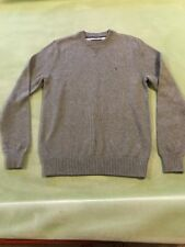 Tommy Hilfiger Men Grey Classic Crew-Neck Solid Long Sleeve Sweater XS  NWOT