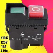 250V KJD17 IP55 4 Pin Start/Stop No volt release switch für Werkstatt Maschinen