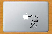 SNOOPY LICKING Funny Sticker Decal Decor Laptop Mac Apple Macbook Black Viny