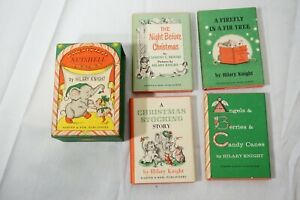VINTAGE NUTSHELL LIBRARY HILARY KNIGHT 1963 4 BOOK BOXED SET HC DJ CHRISTMAS