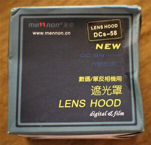 Mennon DC-s 58 Screw Mount 58mm Flower Lens Hood Black for Canon Nikon DSLR