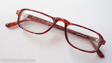 Reading Glasses Sporty Nahbrille Without Glasses Plastic Socket Red Brown Size M