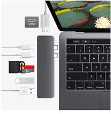 7-in-1 Aluminum USB Type-C Port Pro Hub HDMI Adapter For MacBook Pro 2016/2017