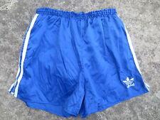 Short ADIDAS VINTAGE bleu nylon Trefoil oldschool slip intérieur F 44 US M D 6