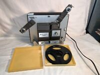 Bell & Howell Autoload 456A Dual 8mm Super 8 MOVIE PROJECTOR + Reel WORKS
