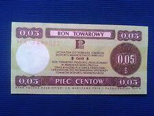 25. Poland - Bon towarowy Pekao 0,05$ - 1979