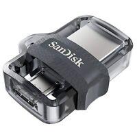 New SanDisk 128GB 256GB USB 3.0 M3.0 OTG Flash Drive Memory Stick Android Device