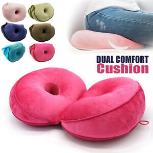 Dual Comfort Cushion Balance Lift Hips Up Seat Pad Pillow Butt Mat Pain Foldable