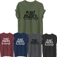 PLANTS POWERED Tumblr T-Shirt Hipster Joke Tee Ladies Unisex Vegetarian Vegan