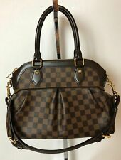 Louis Vuitton Damier Ebene Trevi PM Satchel Shoulder Bag Canvas Brown