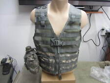 Military ACU Fighting Load Carrier FLC Vest MOLLE II NEW w/ Canteen Pouch  *
