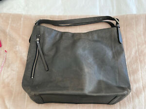 Country Road Large Hobo Grey Leather Bag
