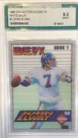1994 Collectors Edge F/X White Back John Elway Football Card #1 9.0 Mint Graded