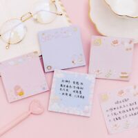Pink Girl Cartoon Kawaii Memo Pad Paper Sticky Notes Cute Notepad Stationery