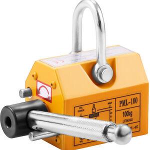 220Lbs Magnetic Lifter Magnet Hoist 100KG Steel Neodymium Suspension Lifting CE