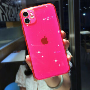 For iPhone 12 11 Pro Max XS XR X 8 7 Plus Shockproof Glitter Silicone Case Cover