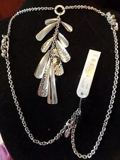 Guess Silver Woven Snake Pendant Necklace MSRP $38