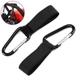 Buggy Clips Hooks Pushchair Pram Strap Carabiner Bag Buggies Stroller Walker