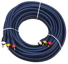 25 ft Python 3-RCA male to male heavy duty AV A/V cable
