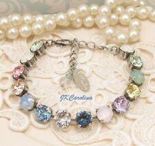 Cup Chain Bracelet PACIFIC OPAL RAINBOW Bracelet made w/ Swarovski Crystals NICE