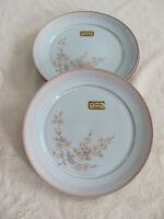 Denby - Normandy-Made in England -Pink Flowers & Band -Salad Plate(s)- New