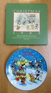 WALT DISNEY PARKS CHRISTMAS 1985 SEASON'S GREETINGS COLLECTORS PLATE = 1ST ED =