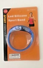 LED Silicone Sport Wrist Band-Motion Sensor Safety Night Light-Blue