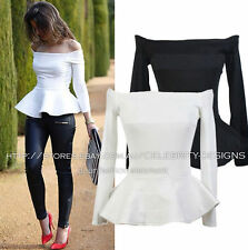 Regular Solid Peplum Tops & Blouses for Women