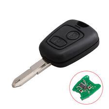 2 Tasten Fernbedienung Schlüssel 433 Mhz mit Chip ID46 Für Peugeot 206 NE73