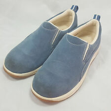 Lands End All Weather Moc Casual Shoes Slip Ons Sky Blue Womens Sz 6 Style 442