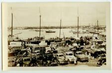 c1950 Maracaibo Venezuela Real Photo - Puerto port market scene