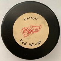 Detroit Red Wings 1972 Official Size Game Puck Stamped Made In Canada NHL Rare