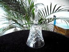 "Hand Cut Crystal Christmas Bell 6"" Tall Beautiful!"