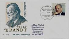 """BRD FDC MiNr 1706 (1aG) """"80. Geburtstag von Willy Brandt"""" -Politiker-Nobelpreis-"""