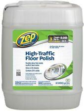 ZEP High-Traffic Floor Polish High-Gloss Shine Prevents Scuff Marks 5-Gallon