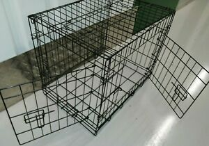 "PGO 2 Door Folding 24"" Small Black Dog Cage - Post or FREE Collection"